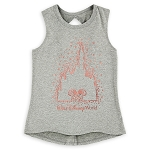 Disney Tank Top for Girls - Minnie Mouse Cinderella Castle - Gray