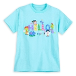 Disney Shirt for Girls - It's a Small World - Hello - Blue