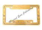 Disney License Plate Frame - Dreams Come True - Disney World - Gold