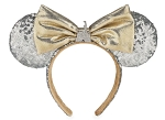 Disney Ears Headband - Cinderella Castle - Gold and Silver Sequins