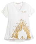 Disney Shirt for Women - Walt Disney World Castle - White & Gold