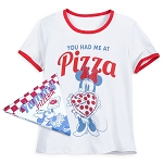 Disney Shirt for Women - Minnie Mouse Pizza - White