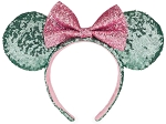 Disney Ears Headband - Minnie Mouse - Pink and Teal Sequins