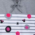 Disney Hooded Pullover for Women - Minnie Icons and Dots - Gray