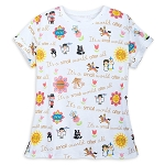 Disney T-Shirt for Women -It's a Small World - White