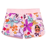 Disney Shorts for Girls - Moana - Plumeria Print