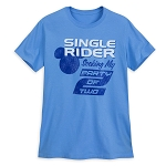 Disney Shirt for Men - Mickey Mouse Single Rider - Blue