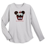 Disney Shirt for Women - Mickey Mouse Cupcake Sequin - Reversible