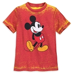 Disney Shirt for Kids - Mickey Mouse Burnout - Orange