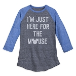 Disney Shirt for Men - I'm Just Here for the Mouse - Raglan