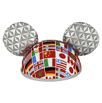 Disney Hat - Ears Hat - Epcot Flags - Spaceship Earth