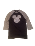 Disney Shirt for Women - Mickey Mouse Icon Dotted Raglan Top