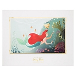 Disney Story Book Deluxe Art Print - Ariel and Flounder
