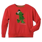 Disney Holiday Sweatshirt for Women - Minnie Reversible Sequin - Red