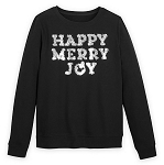 Disney Holiday Pullover for Women - Happy Merry Joy Tinsel - Black