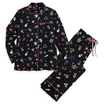 Disney Holiday Pajamas for Women - Mickey and Minnie Treats - Black