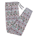 Disney Lounge Pants for Men - Mickey Mouse Holiday - Gray