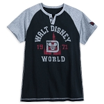 Disney T-Shirt for Men - Walt Disney World 1971 Raglan - Black & Gray