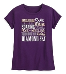 Disney Shirt for Women - Aladdin Lyrics - Purple