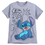 Disney Shirt for Boys - Stitch Two-Sided - Gray