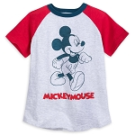 Disney Shirt for Boys - Mickey Mouse Raglan - Gray & Red
