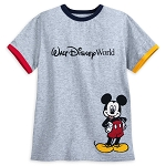 Disney Shirt for Boys - Mickey Mouse Ringer - Walt Disney World - Gray