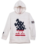 Disney Pullover Hoodie for Boys - Mickey Mouse Americana - White