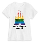 Disney T-Shirt for Adults - Rainbow Fantasyland Castle - White