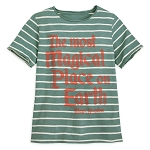 Disney T-Shirt for Boys - Most Magical Place - Green Striped