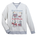 Disney Sweatshirt for Men - Magic Kingdom Frontierland - Gray