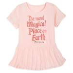 Disney Peplum Shirt for Girls - Most Magical Place on Earth - Pink