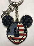 Disney Keychain - Mickey Mouse Americana - Stars and Stripes