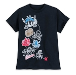 Disney T-Shirt for Boys - Mickey Mouse - Pirates of the Caribbean logos