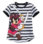 Disney T-Shirt for Girls - Minnie Mouse Pirates of the Caribbean - Striped