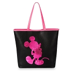 Disney Loungefly Tote - Mickey Imagination - Pink Reversible Sequin
