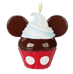Disney Figurine Ornament - Mickey Mouse Cupcake