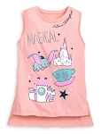Disney Tank Shirt for Girls - I Live in Fantasyland - Peach