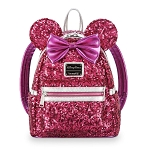 Disney Loungefly Backpack - Minnie Mouse Sequined - Imagination Pink