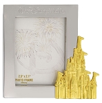 Disney Photo Frame Magnet - Walt Disney World - Gold Castle