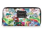 Disney Loungefly Wallet - Disney Parks Collage
