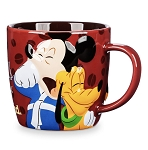 Disney Coffee Mug - Mickey and Pluto Portrait - Coffee and Friends