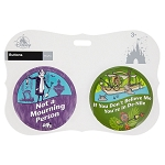 Disney Souvenir Button Set - Mourning Person and De-Nile - Set of 2