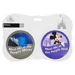 Disney Souvenir Button Set - People Mover and Purple Wall - Set of 2