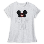 Disney Shirt for Women - Mickey Mouse Best Day Ever - Gray