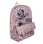 Disney Backpack Bag - Minnie Mouse Dots Sequined - Pink