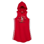 Disney Hooded Dress for Girls - Minnie Mouse Sleeveless - Red