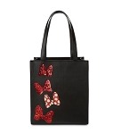 Disney Tote Bag - Minnie Mouse Sequined Bow - Black