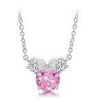 Disney Crislu Necklace for Kids - Minnie Mouse - Pink