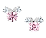 Disney Crislu Earrings for Kids - Minnie Mouse - Pink - Color Choice
