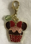 Disney Dangle Charm - Charmed in the Park - Minnie Mouse Cupcake